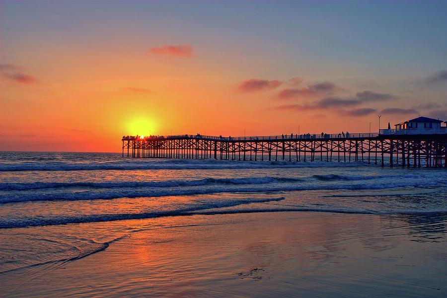 Pacific Beach Pier Sunset Photograph