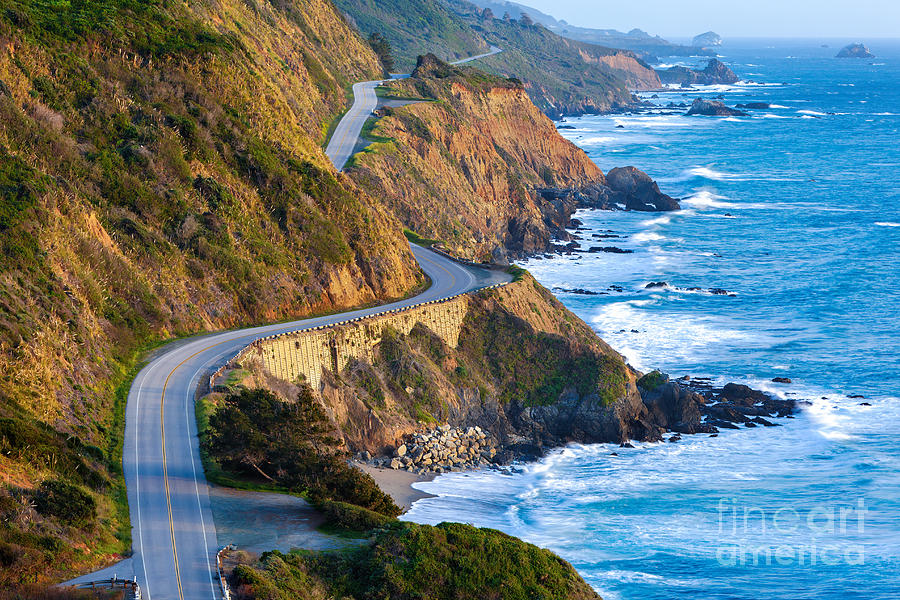 Pacific Coast Photograph - Pacific Coast Highway Highway 1 At by Doug Meek