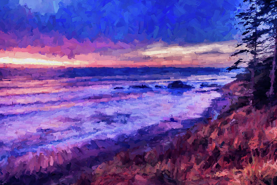 Pacific Ocean Sunset 2 by Mike Penney