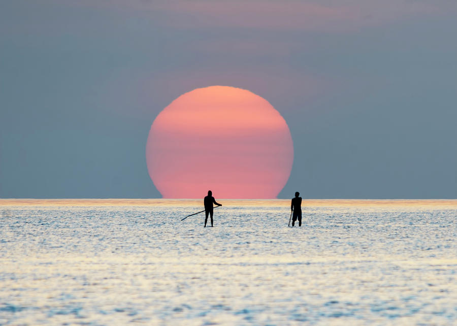 Sunrise Paddle Boarding by Steven Sparks