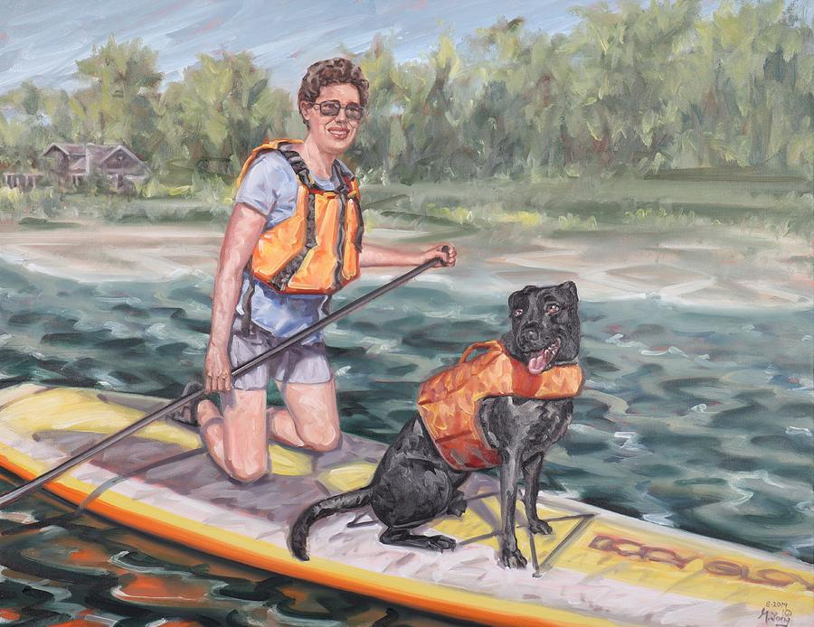 Paddle Boarding with My Best Friend by Gary M Long