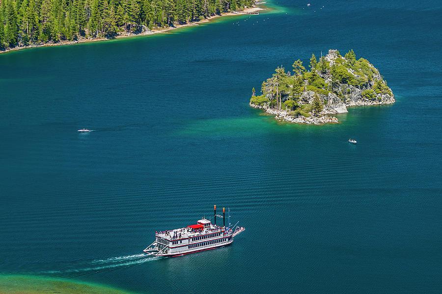 Paddle Wheeler, Lake Tahoe, Us Photograph by Stuart Dee