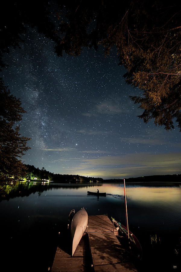 Paddling Under the Stars by John Meader