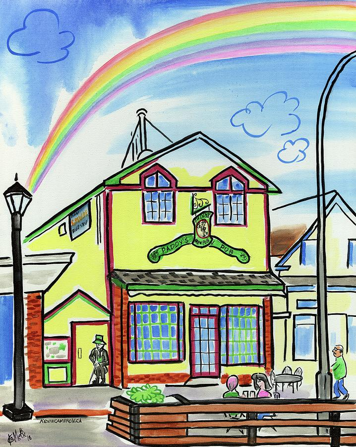 Pub Painting - Paddys Pub by Kevin Cameron