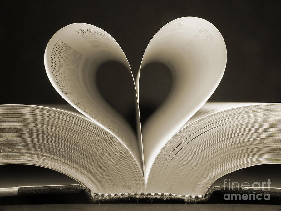Love Photograph - Pages Of A Book Curved Into A Heart by Gjs