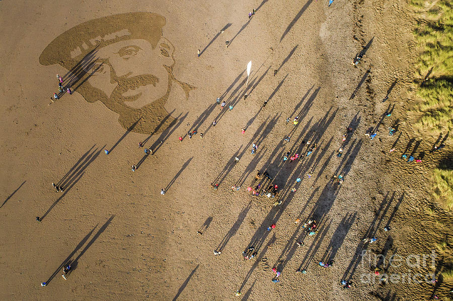 Danny Boyle Photograph - Pages Of The Sea - Ynyslas Beach Wales by Keith Morris