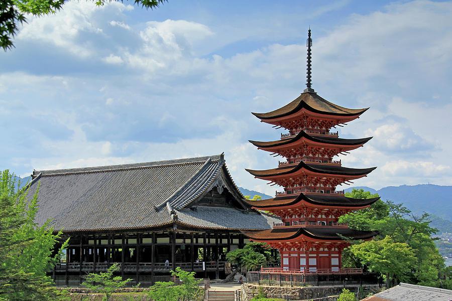 Pagoda - Mayijima, Japan by Richard Krebs