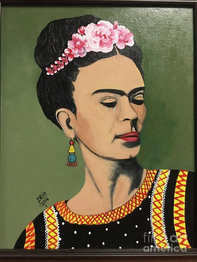 Portrait Painting - Painful Frida by Iris Mora