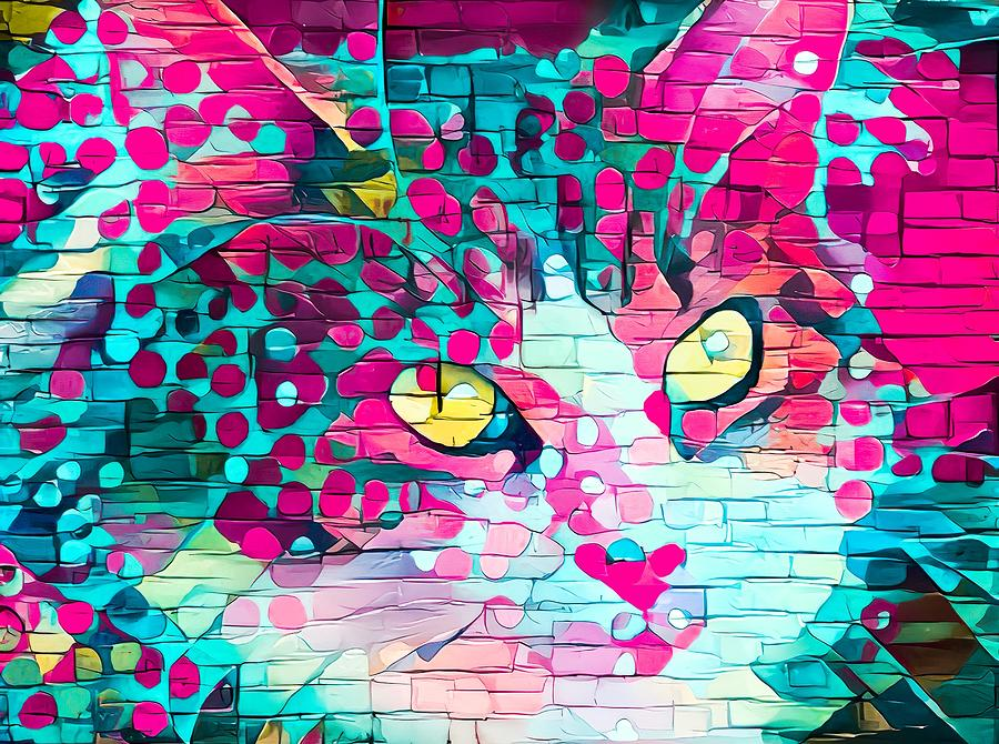 Paint My Cute Kitty Face Bright Pink by Don Northup