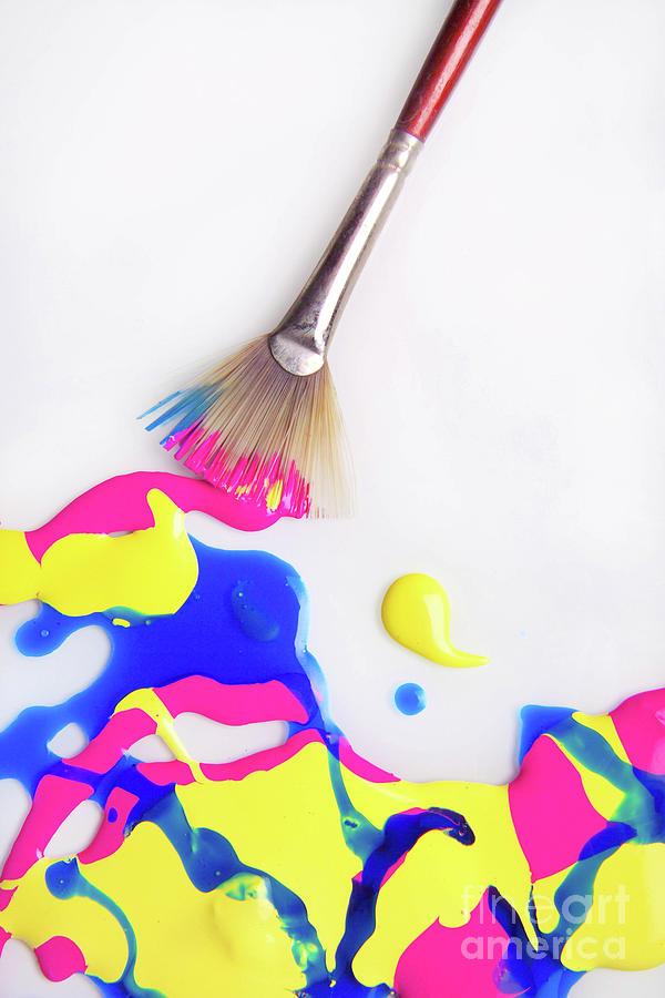 Paint Splatter with Fan Brush by Diane Diederich