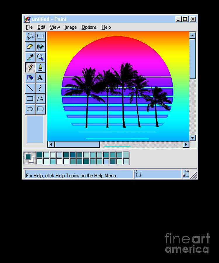 paint window aesthetic t design gift retro wave sunset graphic digital art by dc designs suamaceir paint window aesthetic t design gift retro wave sunset graphic by dc designs suamaceir
