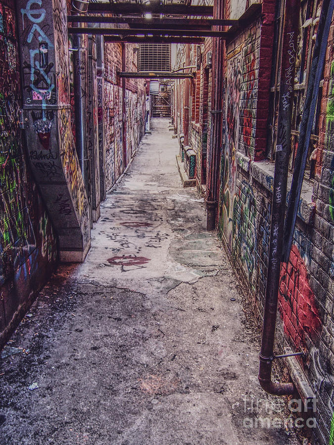 Painted Alley Photograph by Phil Perkins