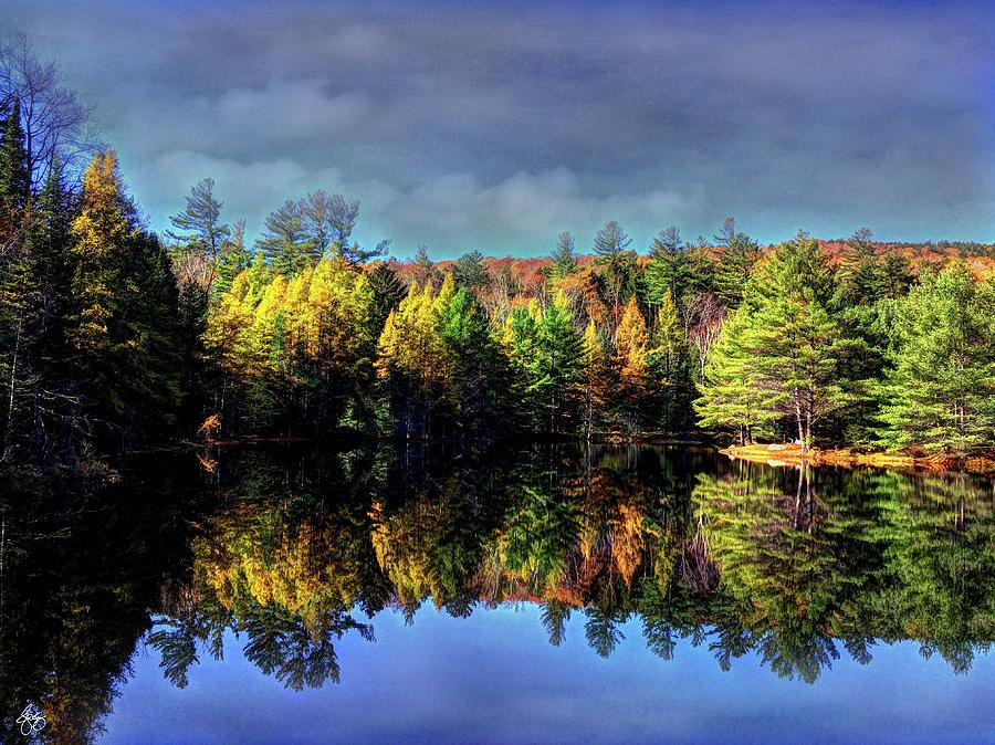 Painted Beaver Pond on Orris Road by Wayne King