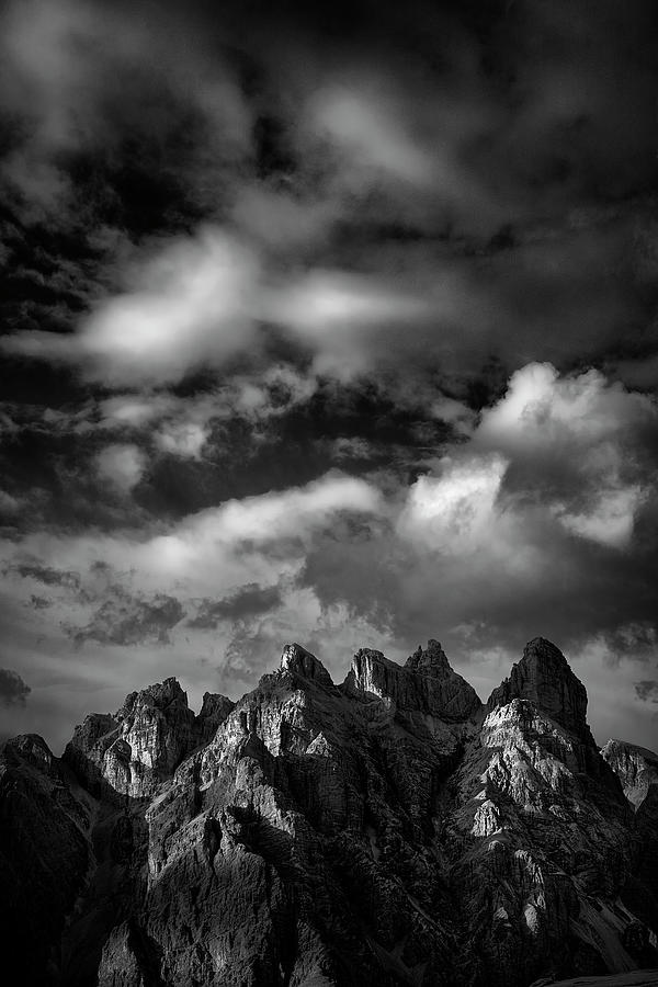 Black And White Photograph - Painted Dolomites by Jon Glaser