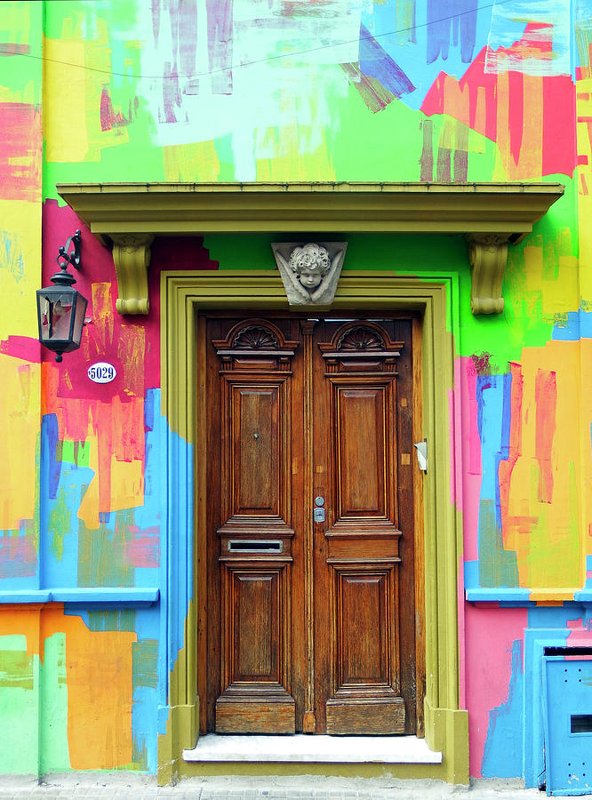 Painted Entrance, Palermo, Buenos Aires by Kurt Van Wagner