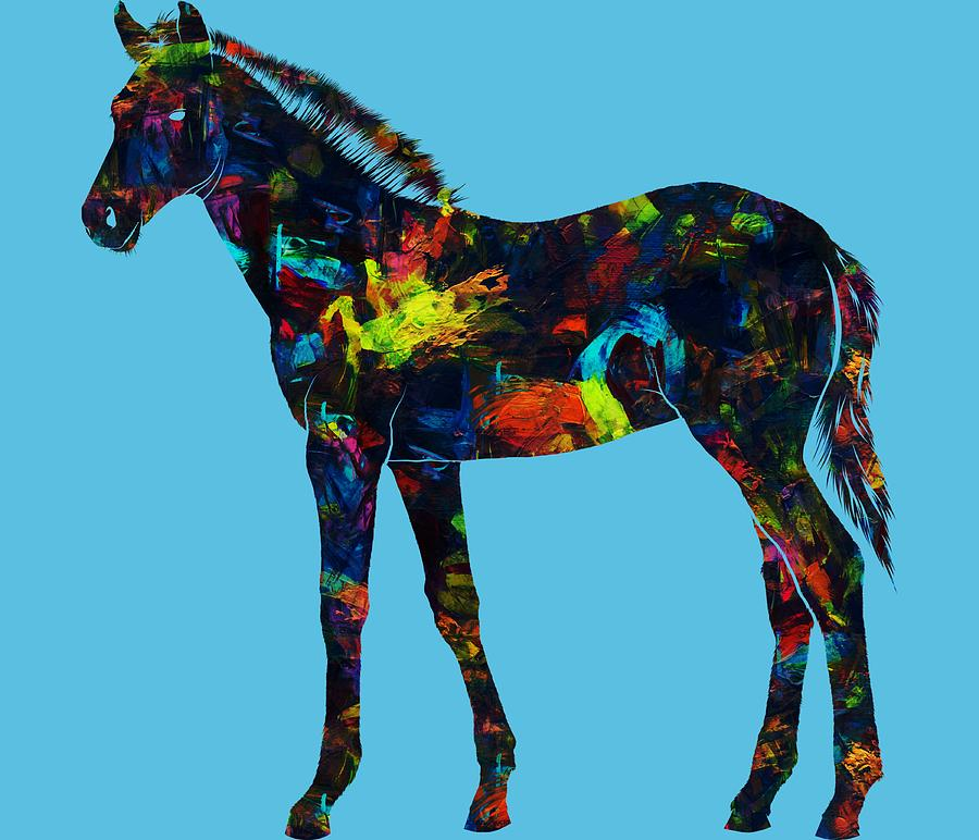 Painted Foal 375 - Digital Art by Ericamaxine Price