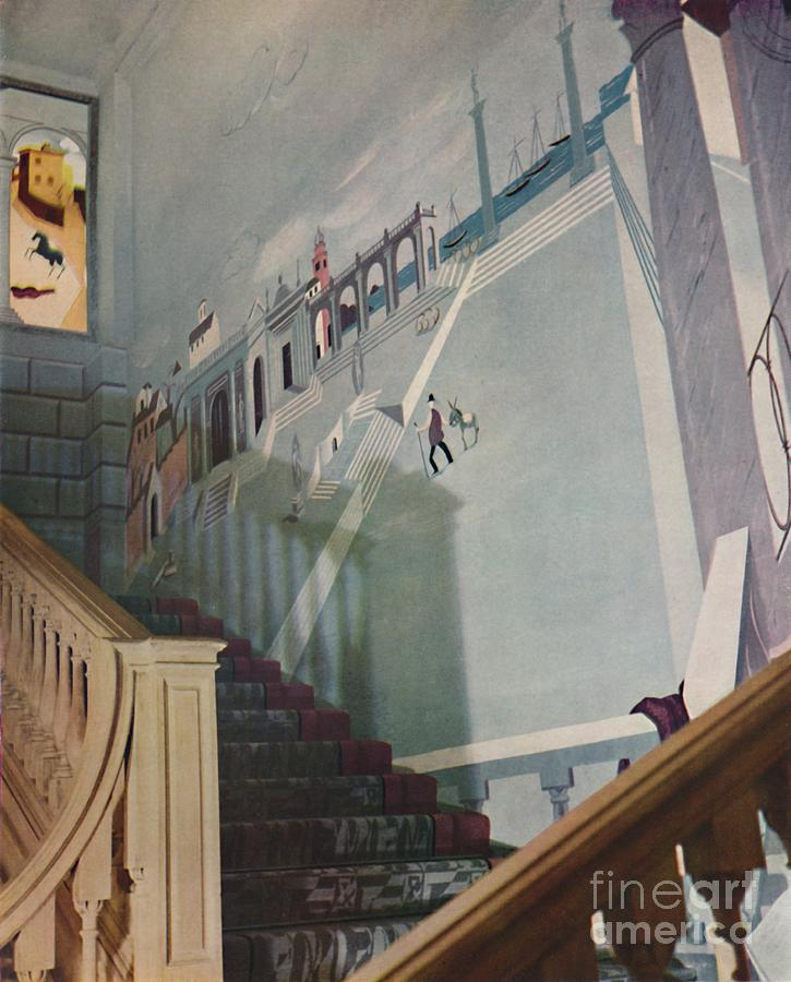 Painted Fresco For A Staircase Drawing by Print Collector