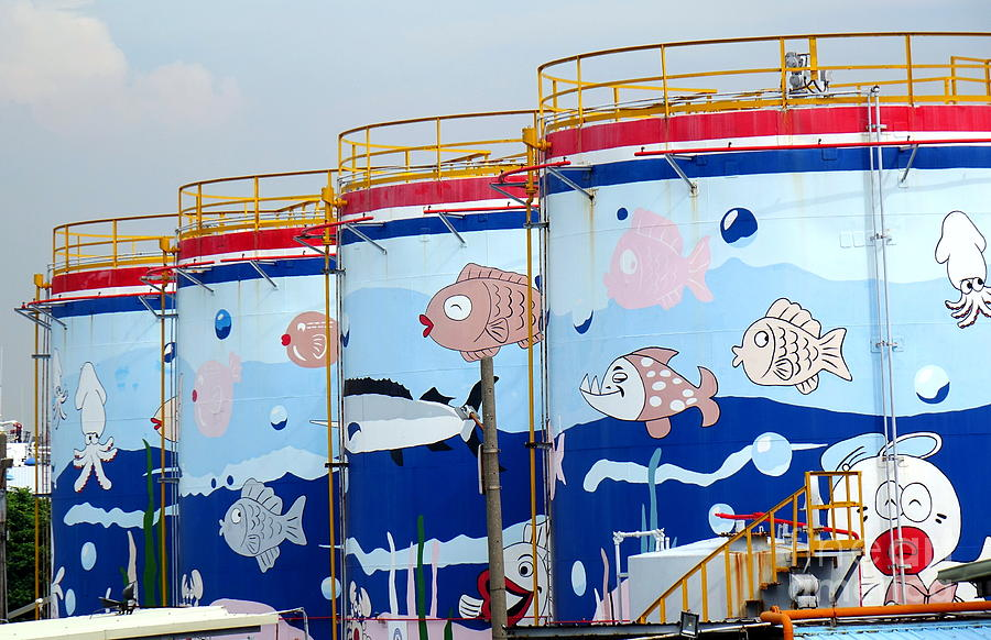 Painted Fuel Storage Tanks by Yali Shi