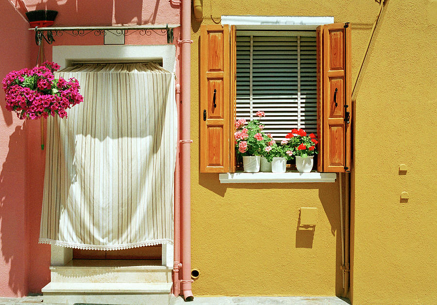 Painted House In Burano Photograph by Terraxplorer