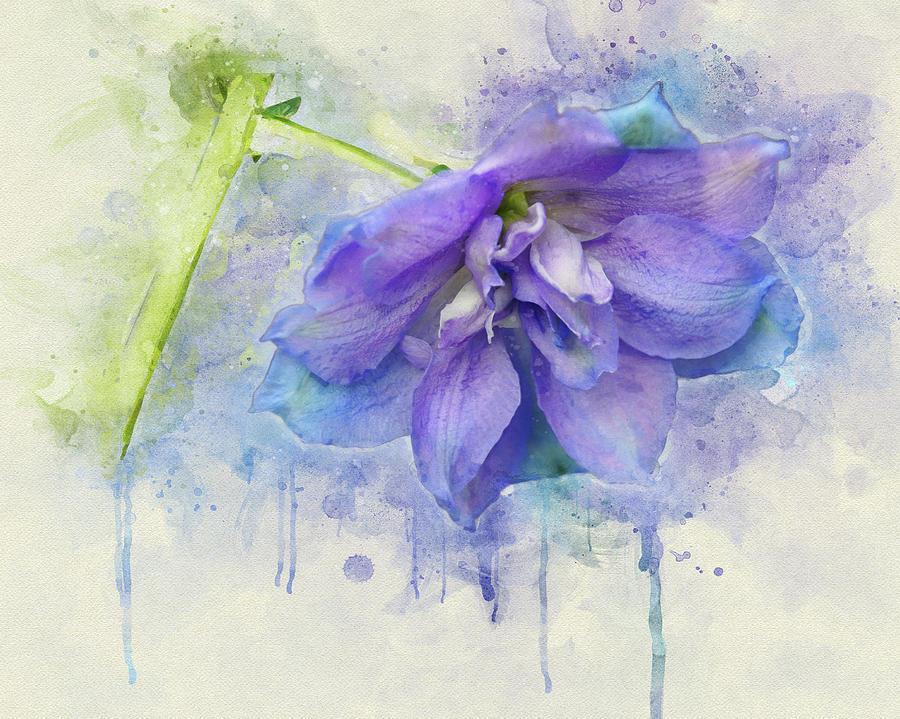 Painted Petals I by Leda Robertson