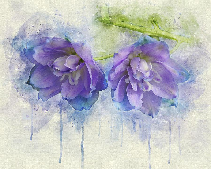 Painted Petals II by Leda Robertson