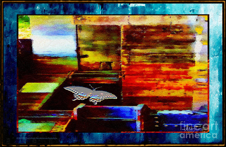 Aquamarine Mixed Media - Painted Shadows Of A Different Love And Time by Aberjhani