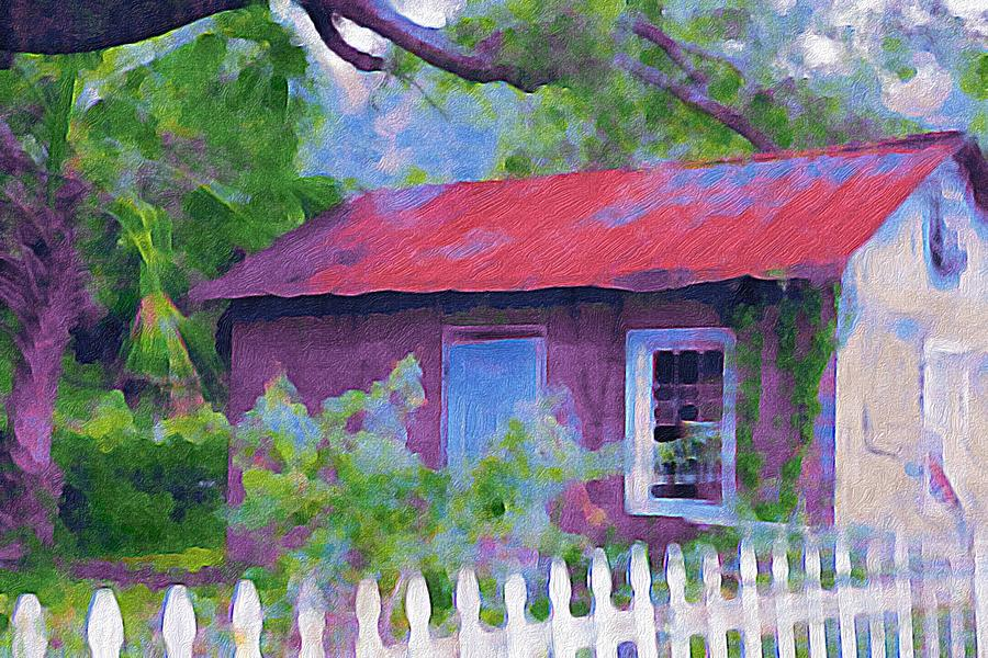 Painted Shed by Patricia Greer
