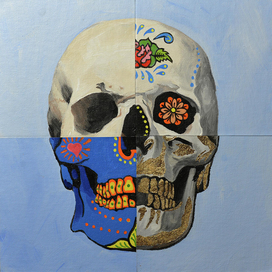 Skull Painting - Painted Skull by Jim Connelly