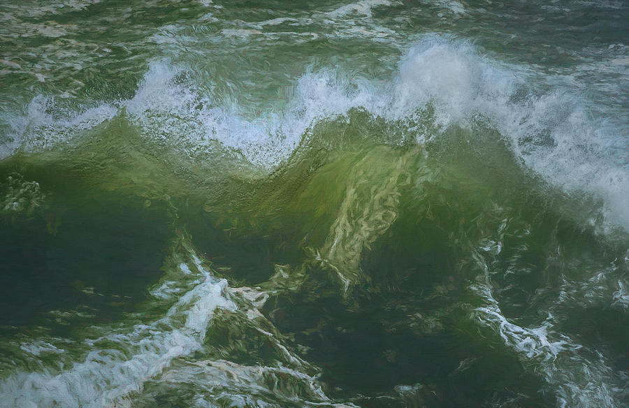 Painted Wave 7 by Bill Posner