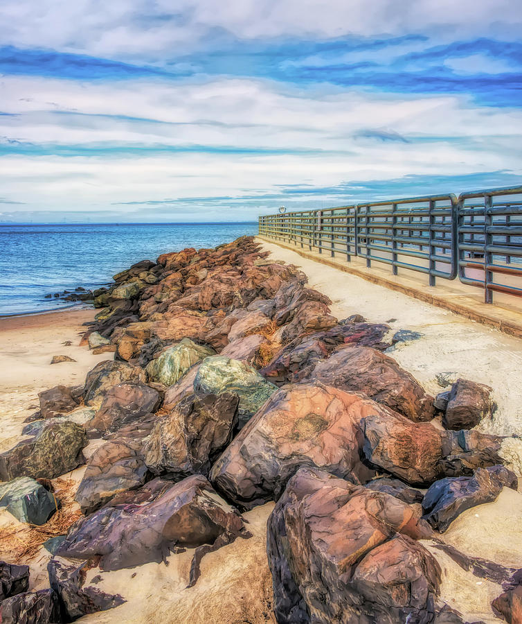 Painterly Path To The Bay by Gary Slawsky