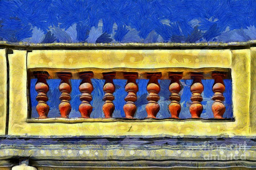 Painting of a sill in an old house by George Atsametakis