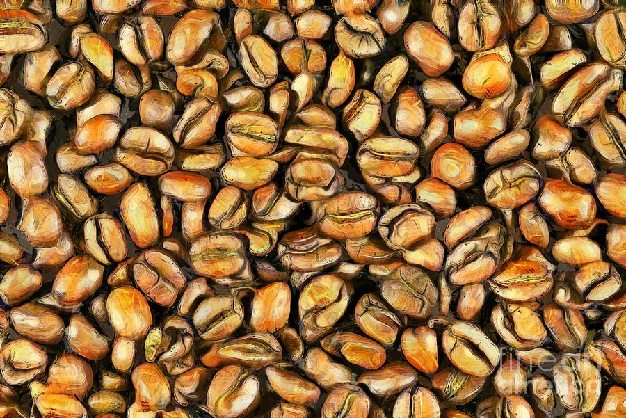 Painting of coffee beans by George Atsametakis