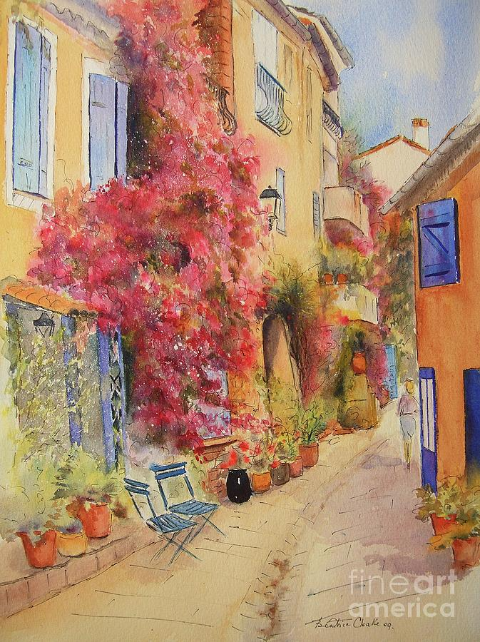 Painting of Grimauld Village France by Beatrice Cloake