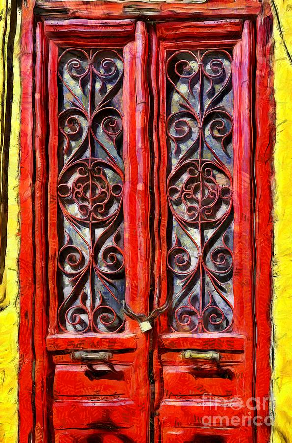 Painting of old door by George Atsametakis