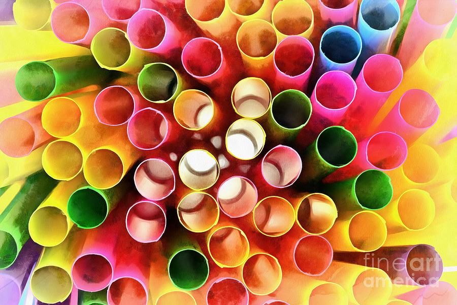 Painting of straws by George Atsametakis