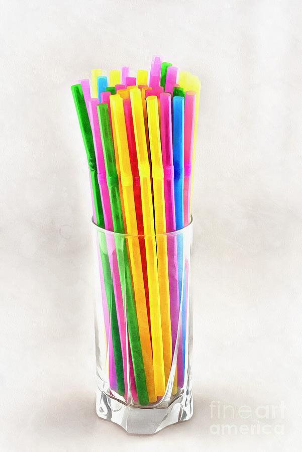 Painting of straws II by George Atsametakis