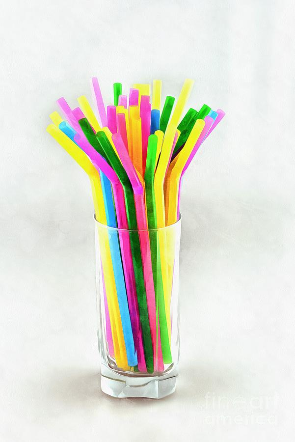 Painting of straws III by George Atsametakis