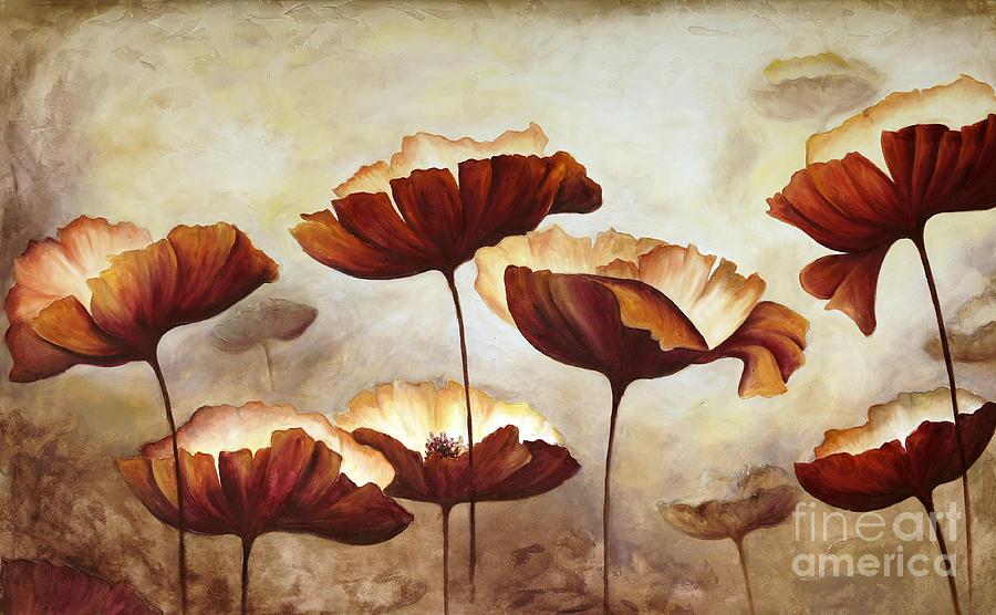 Studio Digital Art - Painting Poppies With Texture by Mauricio Graiki