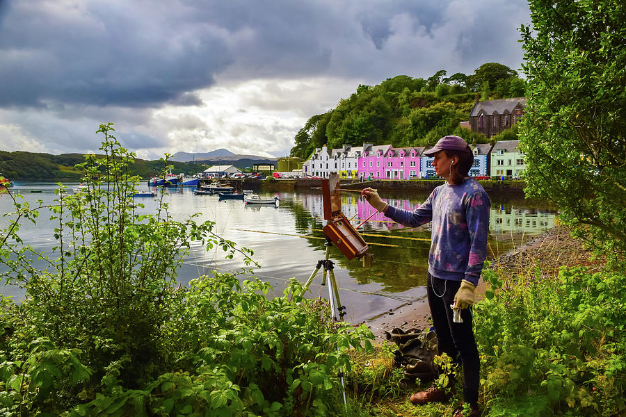 Painting Portree Photograph