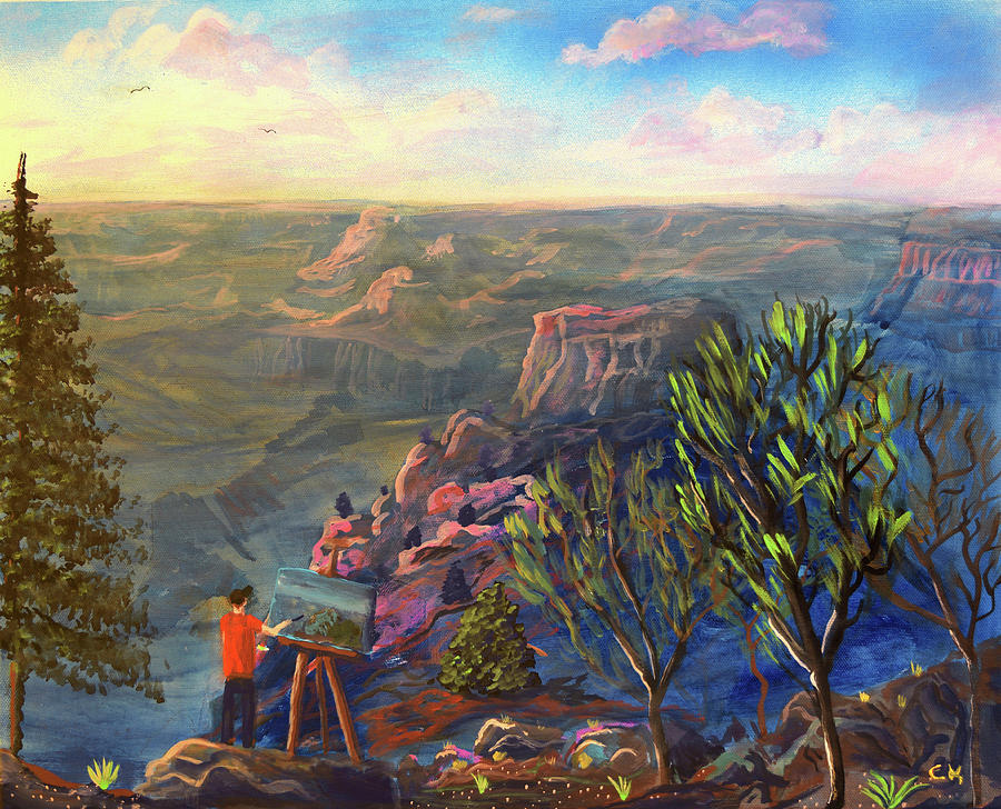 Painting the Grand Canyon by Chance Kafka