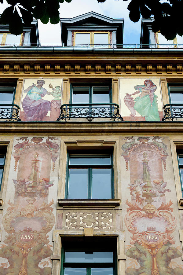 Paintings On The Facade Of The Louis Photograph by Keith Levit / Design Pics
