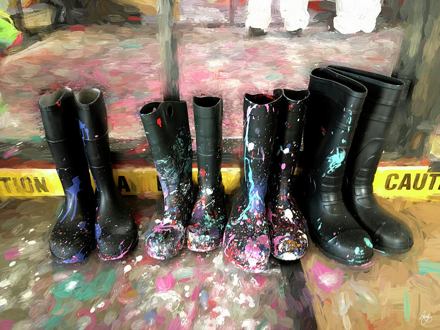 Painty Boots by Wayne King