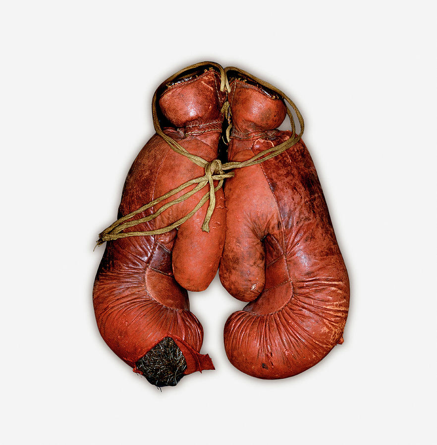 Pair Of Boxing Gloves, Close-up Photograph by John Rensten