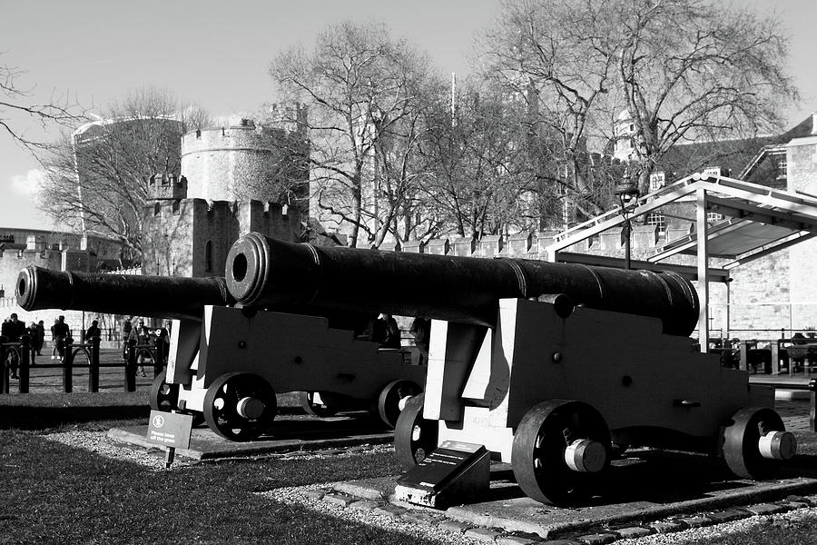 Pair Of Canon At The Tower Of London by Aidan Moran