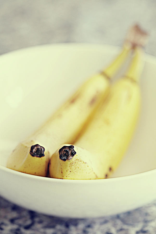 Pair Of Ripe Bananas Photograph by Stephanie Mull Photography