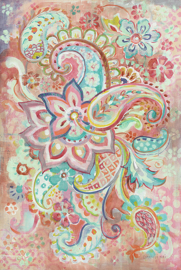 Abstract Painting - Paisley Galore by Danhui Nai