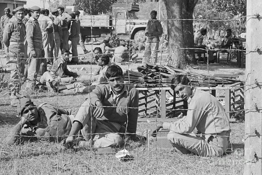 Pakistani Prisoners Of War At Prison Photograph by Bettmann