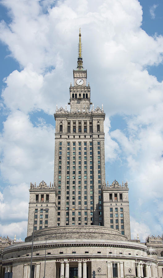Palace of Culture and Science in Warsaw, Poland by Juli Scalzi