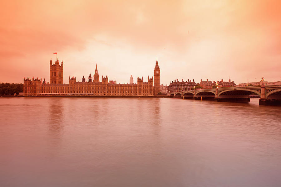 Palace Of Westminster At Sunset Photograph by Massimo Pizzotti