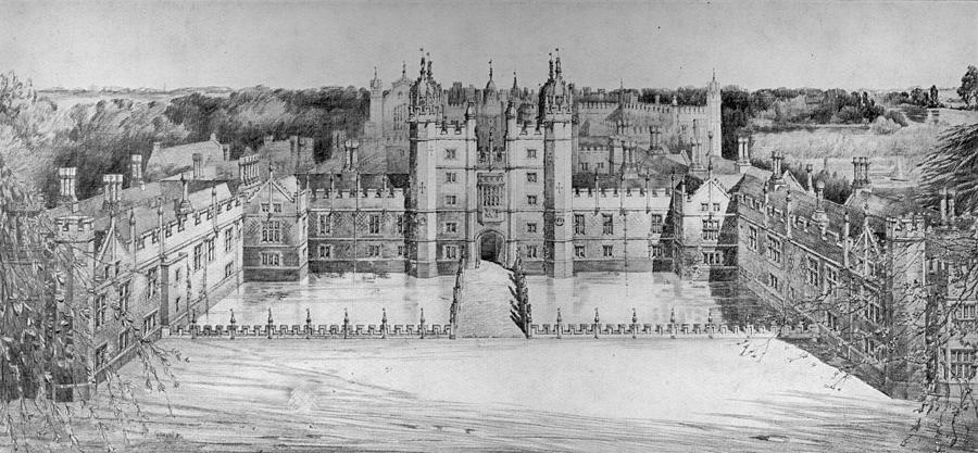 Palace Restoration Digital Art by Hulton Archive
